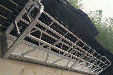 zlp630 / 800 ll формний алюмінієвий сплав, сталевий конструкція підвішена підйомна робоча платформа на будівельних вікнах